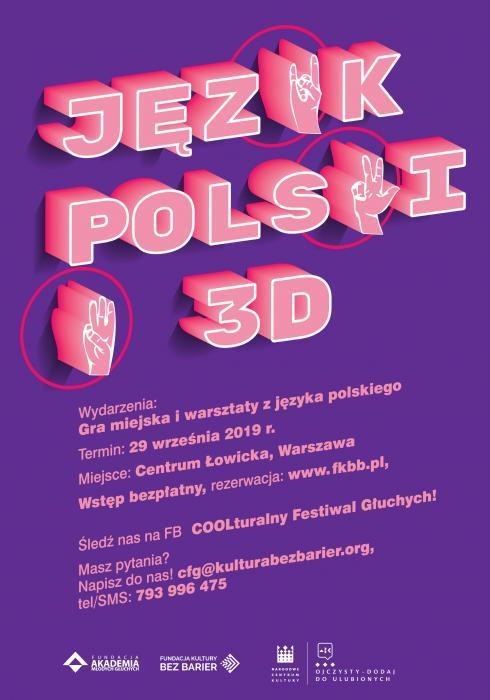 Plakat projektu Język polski w 3D
