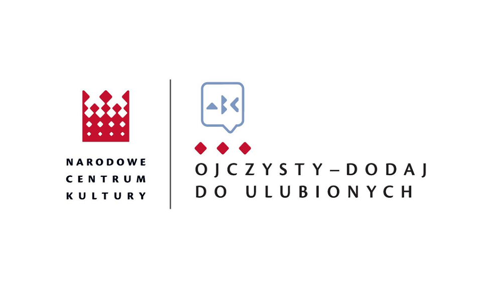 Logo Narodowego Centrum Kultury i programu Ojczysty-dodaj do ulubionych